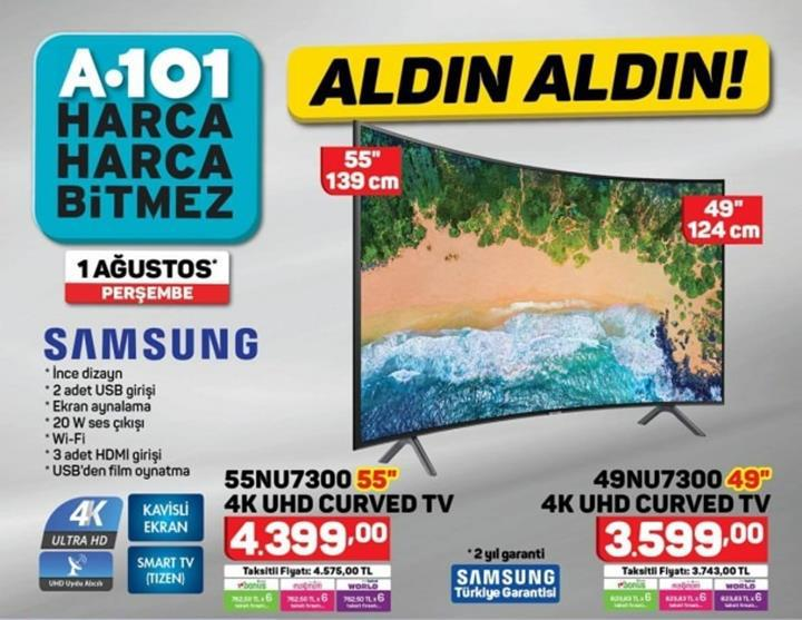 Haftaya A101 marketlerde uygun fiyata Galaxy A7 ve BİM marketlerde Huawei Y5 2018 var