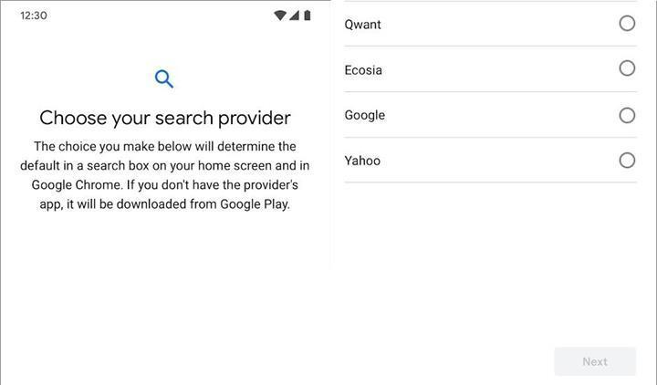 Avrupa'da Android kullanıcıları varsayılan arama motorunu seçebilecek