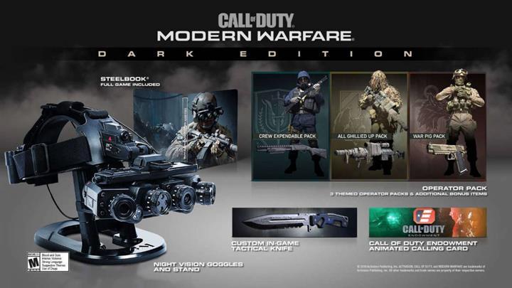 Call of Duty: Modern Warfare gerçek bir gece görüş gözlüğü ile geliyor