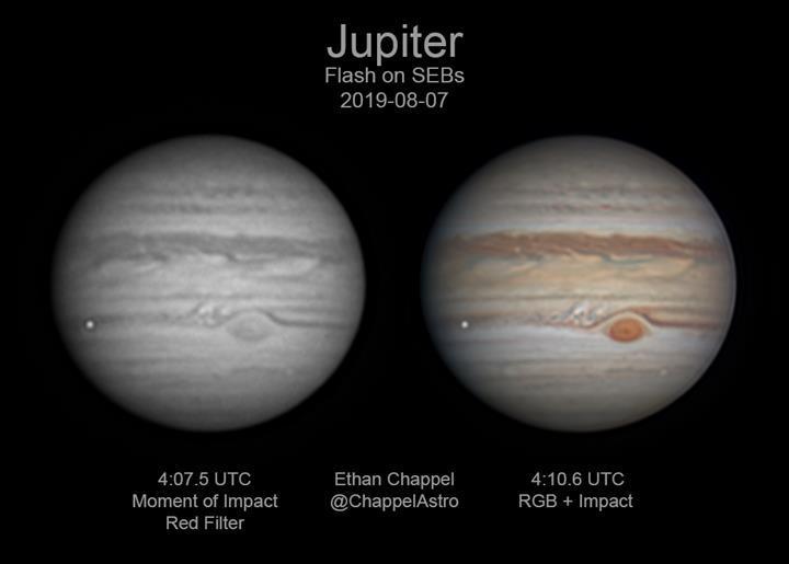 Jüpiter'e çarpan 'dev göktaşı' böyle görüntülendi