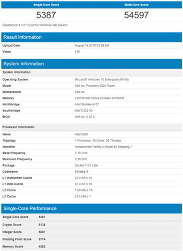 Intel'in 18 çekirdekli Cascade Lake-X işlemcisi ortaya çıktı: Mevcut Threadripper'lardan hızlı