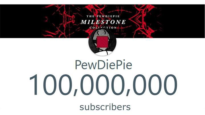 PewDiePie, 100 milyon aboneyi geçen ilk kişi oldu
