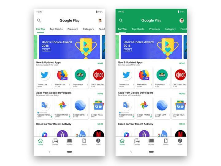 Google Play Store'daki tanıtım videoları otomatik olarak oynatılmaya başlanacak