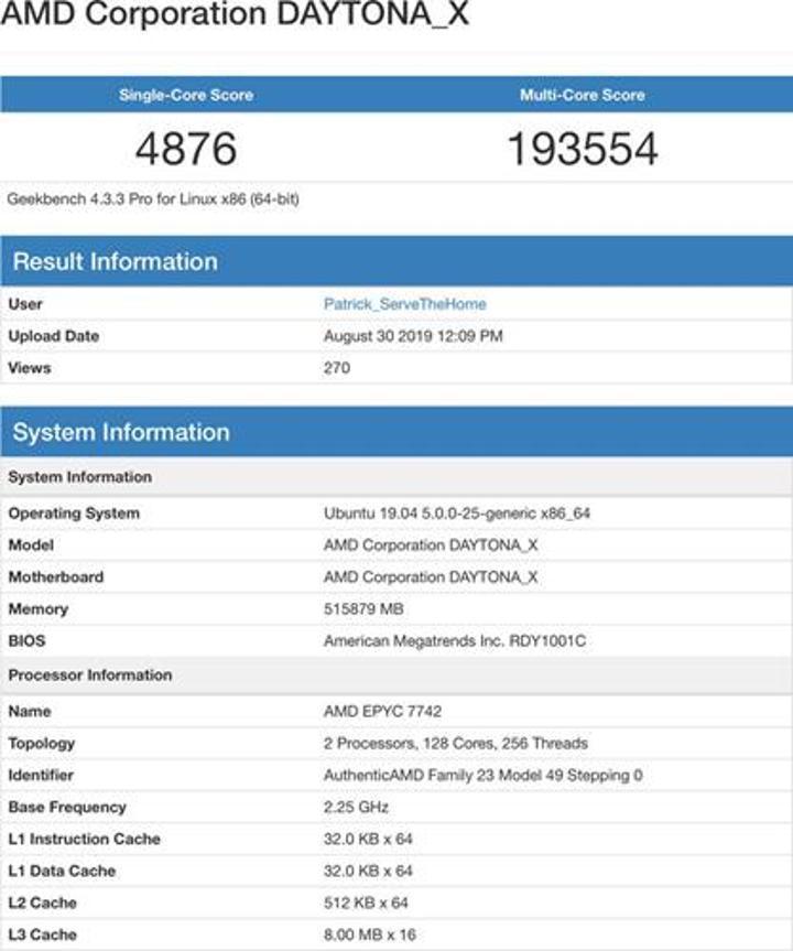Ortaya çıkan EPYC, Intel Xeon modelinin %25'i fiyatında %20 daha hızlı