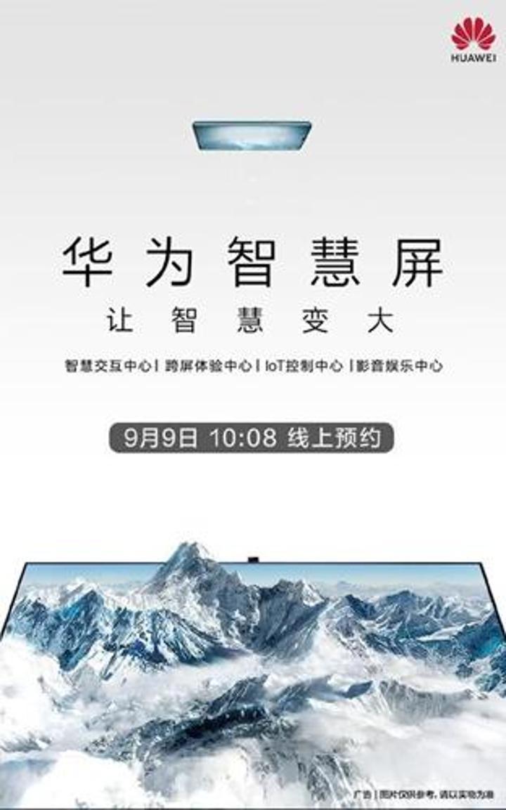 Huawei yeni 65 inç Akıllı TV'sini 19 Eylül'de tanıtacak