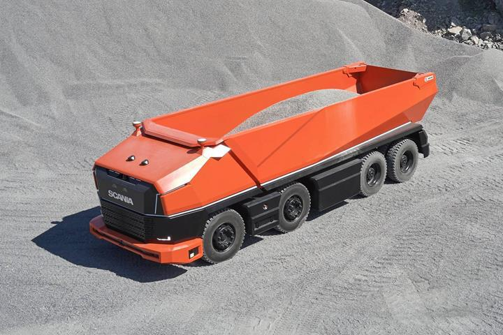 Scania'dan sürücü kabini bulunmayan tam otonom kamyon