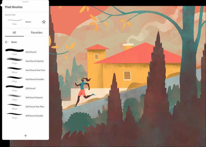 Adobe Fresco uygulaması iPad için indirmeye sunuldu