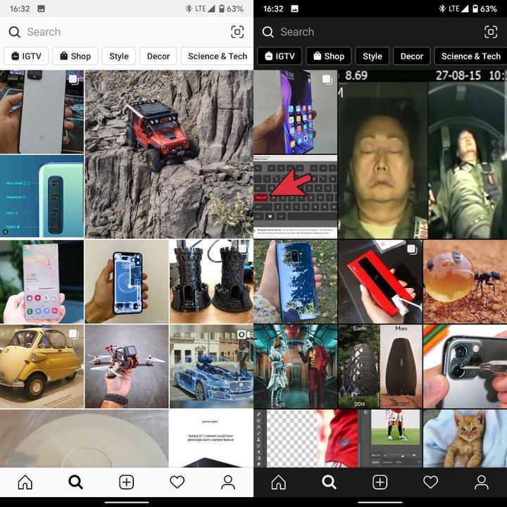 Instagram Android beta sürümü karanlık moda sahip oldu