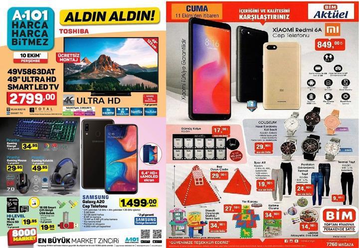 Haftaya BİM marketlerde Redmi 6A, A101 marketlerde Galaxy A20 var