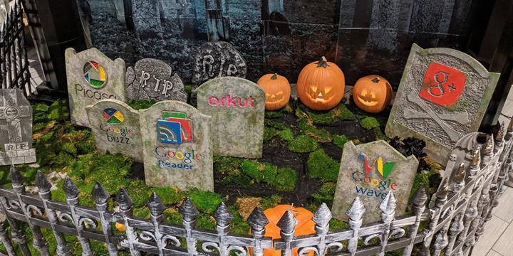 Google'dan sonlandırdığı hizmetler için mezarlık