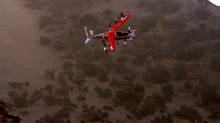 Kitty Hawk'ın yeni uçan arabası, 160 km menzile sahip