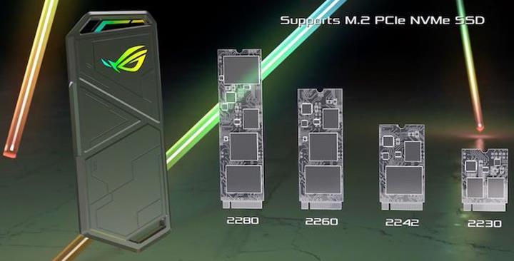Asus ROG oyuncular için yeni bir SSD kutusu duyurdu
