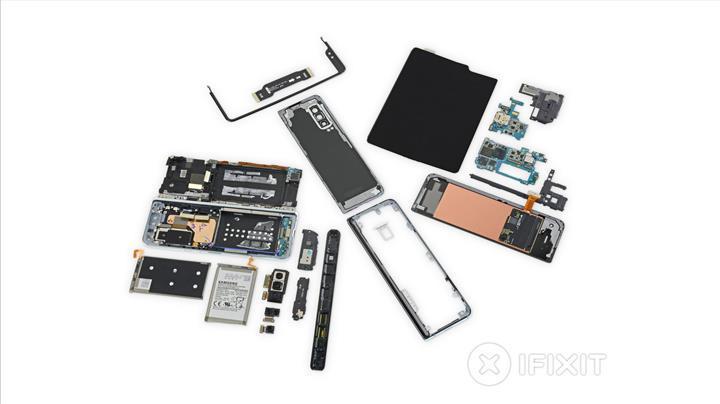 Samsung Galaxy Fold iFixit skoru: 10 üzerinden 2