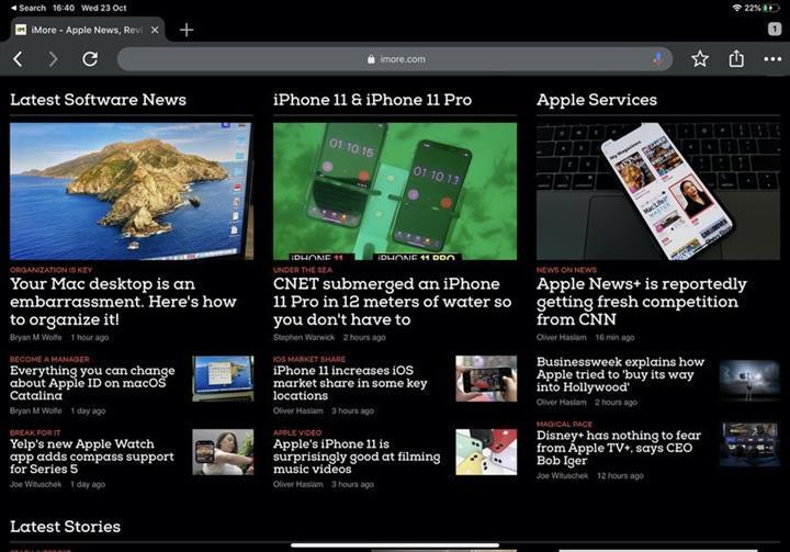 Chrome tarayıcısı artık iOS 13'ün karanlık modunu destekliyor