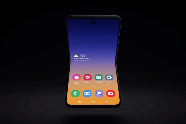 Samsung dikey katlanabilir akıllı telefonundan ilk ipucunu verdi