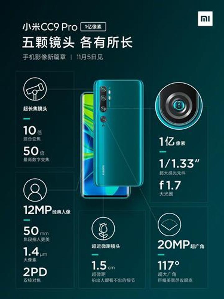 Xiaomi Mi Note 10 kamera özellikleri netleşti