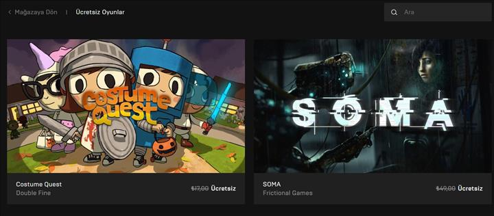 Epic Games mağazasında 2 oyun ücretsiz