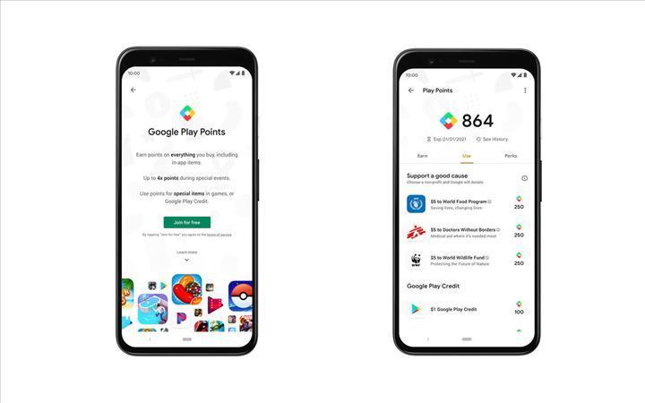 Google Play'den satın alacağınız her içerik için puan kazanacaksınız