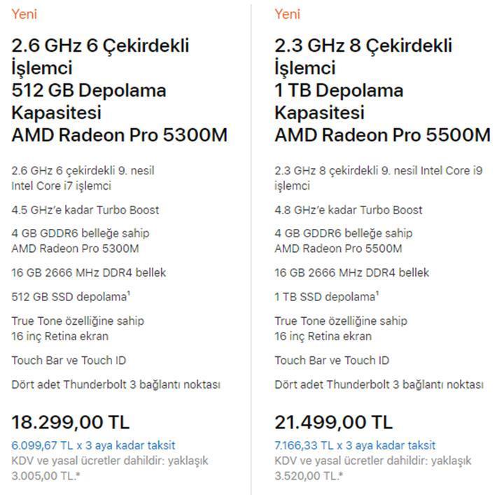 15 inç MacBook Pro satıştan kalktı