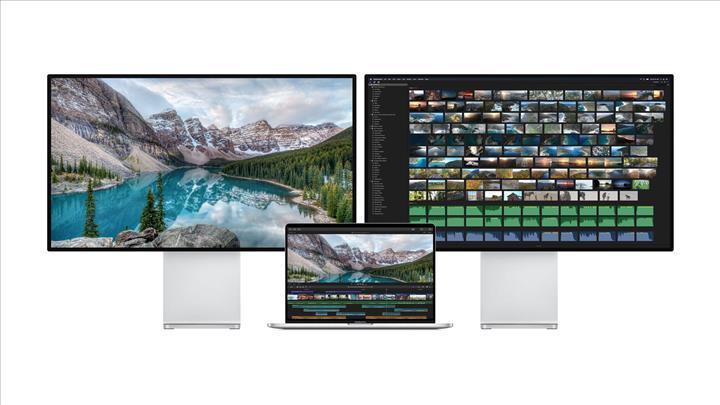 16 inç MacBook Pro modelleri aynı anda iki 6K monitör bağlantısını destekliyor