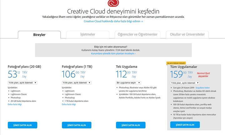 Adobe Creative Cloud aboneliklerinde Kara Cuma indirimleri başladı