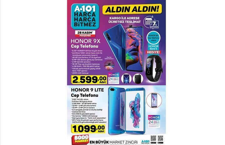 Haftaya A101 marketlerde Honor 9X sürprizi