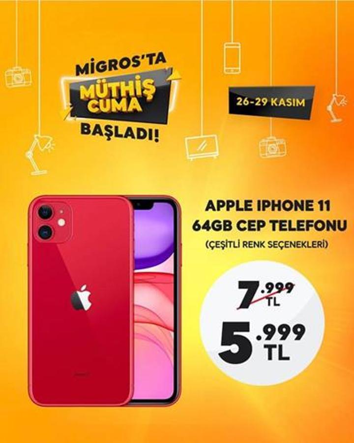 Migros 5999 TL'ye iPhone 11 satacak! İşte detaylar