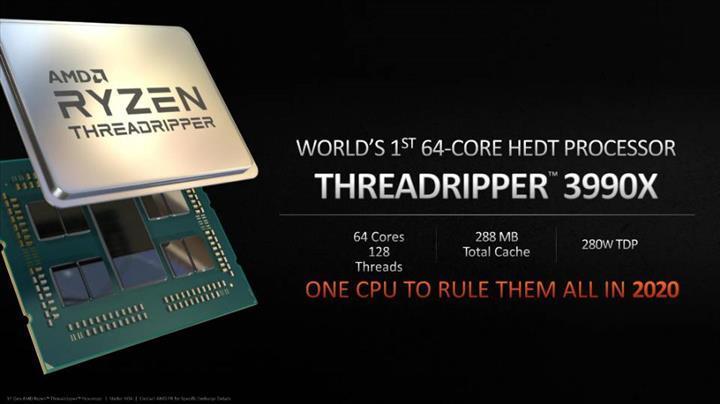 AMD Ryzen Threadripper 3990X'in çıkış tarihi sızdı