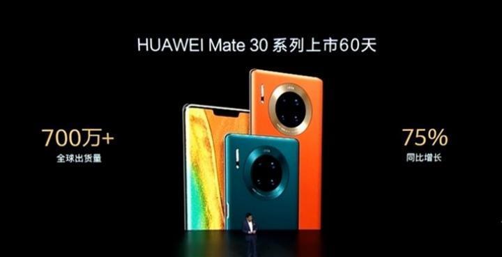 Huawei iki ayda 7 milyondan fazla Mate 30 satmayı başardı
