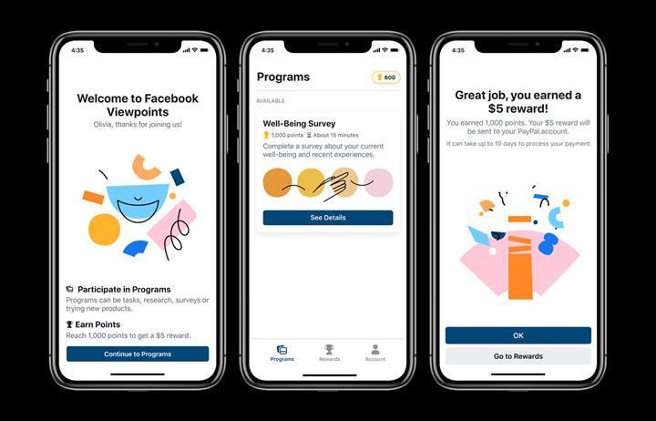 Facebook, Viewpoints uygulaması ile görevlere katılan kullanıcılara ödeme yapacak
