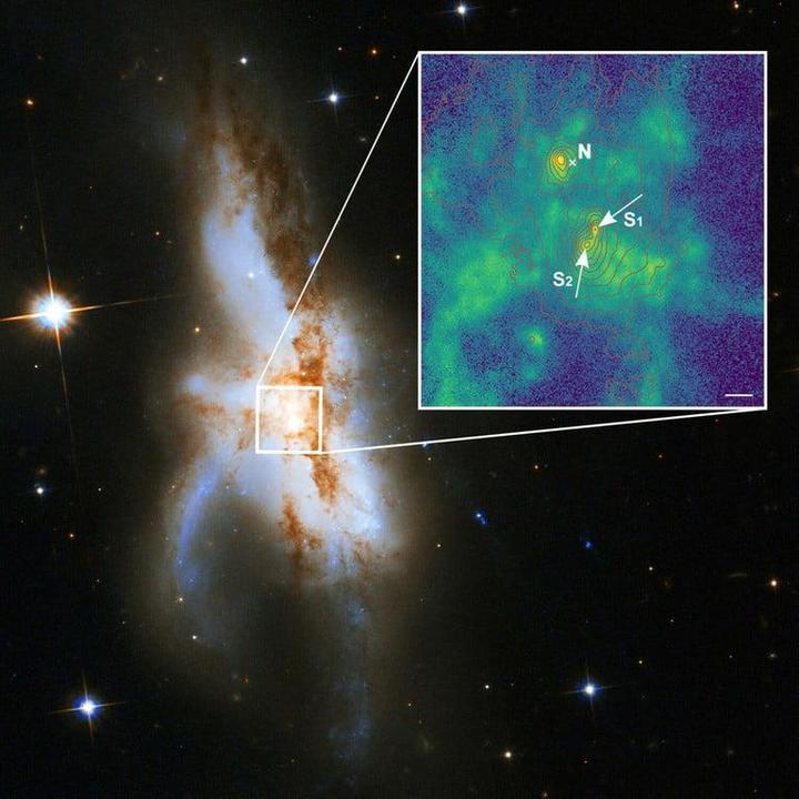 Merkezinde üç süper kütleli kara delik bulunan bir galaksi birleşmesi keşfedildi