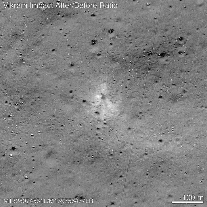 NASA, Hindistan'ın Ay'a çakılan uzay aracını görüntüledi