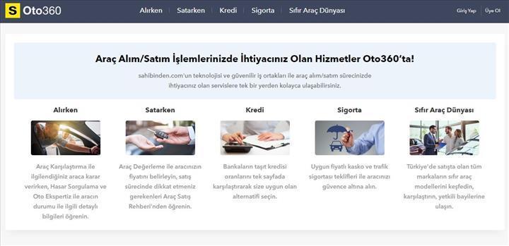Sahibinden.com, yeni platformu Oto360'ı tanıttı