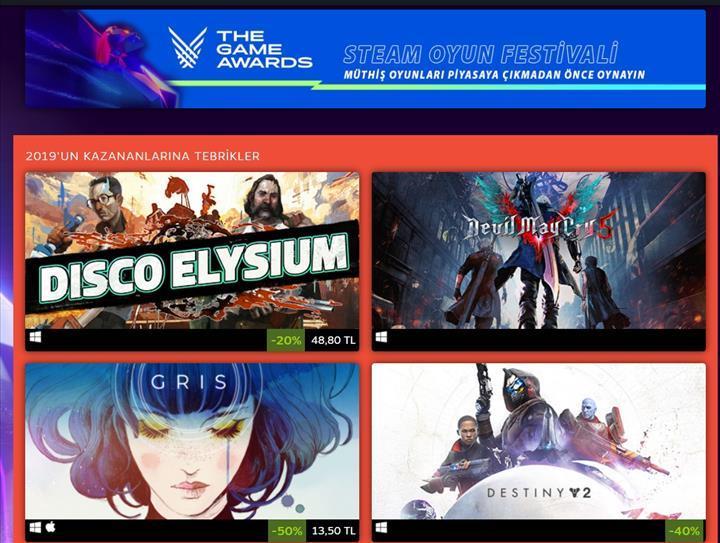Steam Game Awards indirimleri başladı