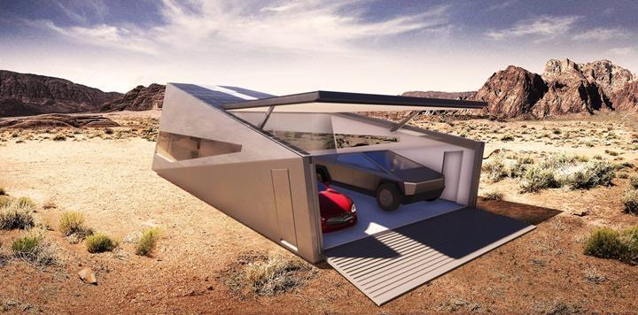 Tesla Cybertruck için özelleştirilmiş garaj konsepti: Cybunker