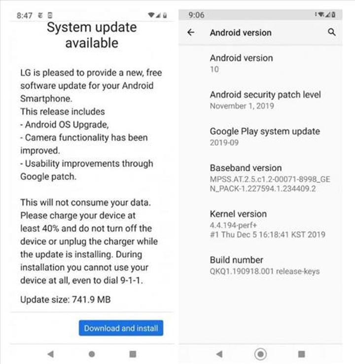 LG G7 One modeli, kararlı Android 10 güncellemesi almaya başladı