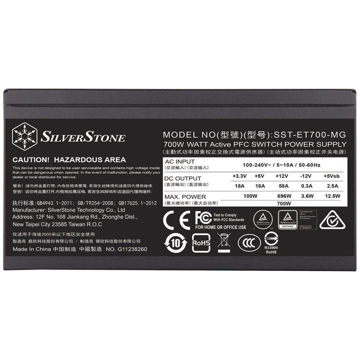 SilverStone ET700 PSU'sunu duyurdu