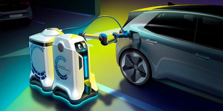 VW, otonom olarak işleyen bir şarj robotu duyurusu yaptı