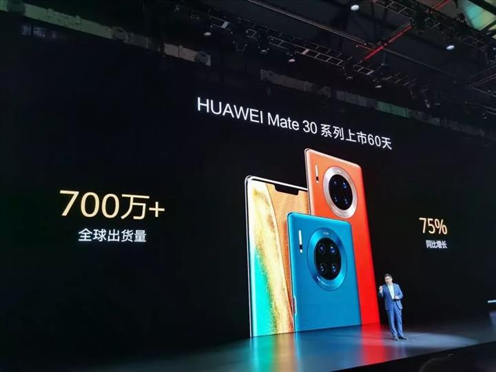 Google uygulamaları olmayan Huawei Mate 30, üç ayda 12 milyon adet sattı