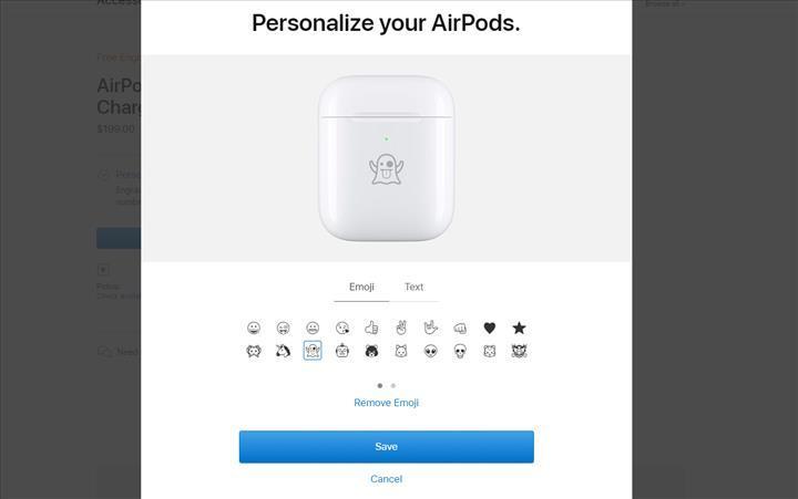 Apple, AirPods kutularına ücretsiz emoji baskısı sunuyor