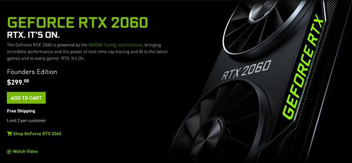 Nvidia GeForce RTX 2060 indirime girdi