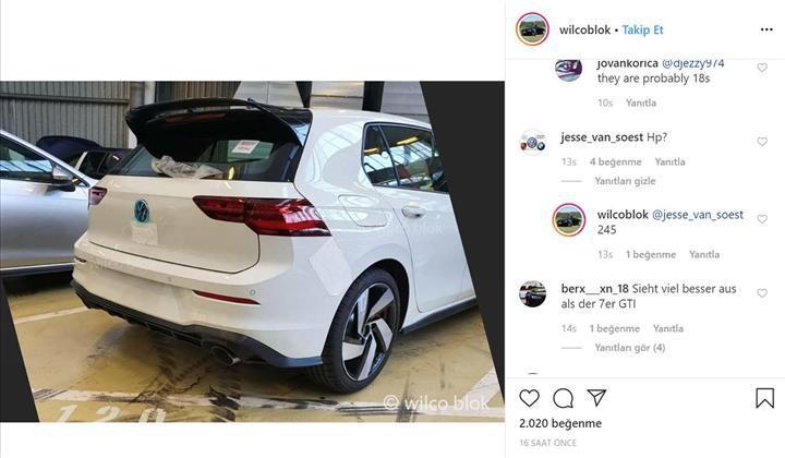 Yeni Volkswagen Golf GTI'ın kamuflajsız görüntüsü paylaşıldı