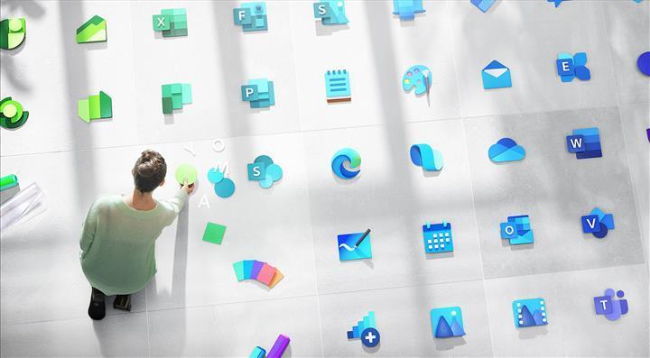 Microsoft'un modern simgeleri Windows 10'da görünmeye başladı