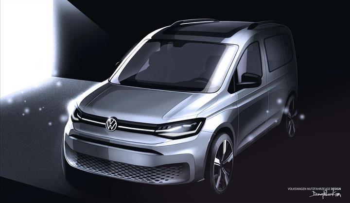 Yeni Volkswagen Caddy'nin çizim görselleri paylaşıldı