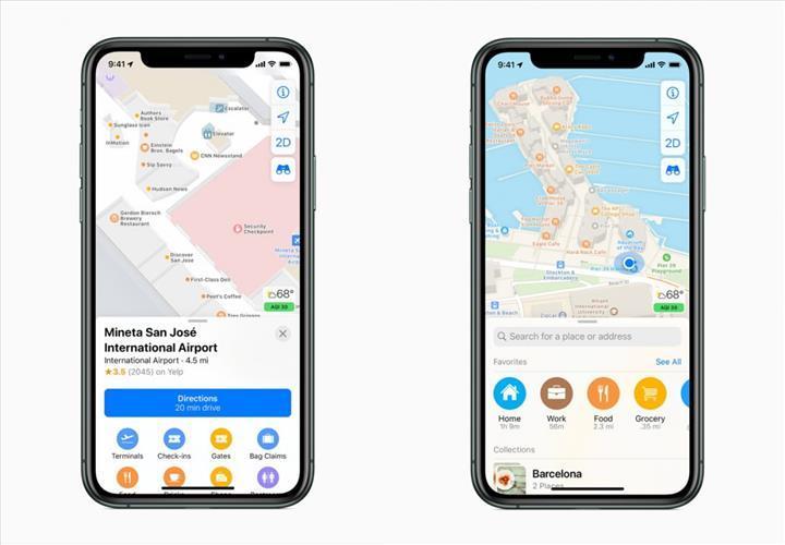 Apple Haritalar uygulaması büyük bir güncelleme aldı
