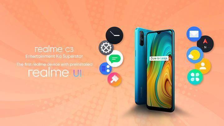 Realme C3, Realme UI arayüzü ile gelen ilk akıllı telefon olacak