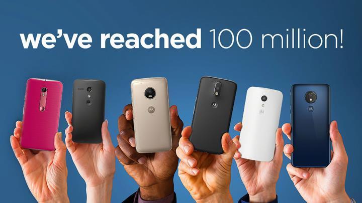 Motorola Moto G serisi 100 milyon satış rakamını geride bıraktı