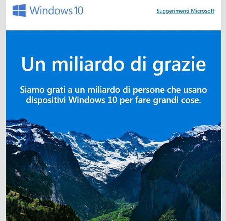 Microsoft sonunda Windows 10 yüklü 1 milyar cihaz hedefine ulaştı
