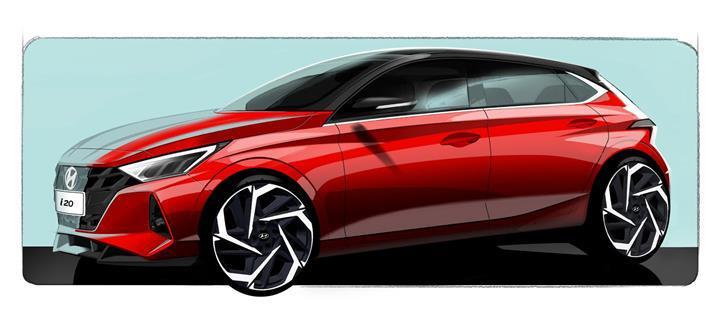 Yeni Hyundai i20'nin ilk çizimleri paylaşıldı