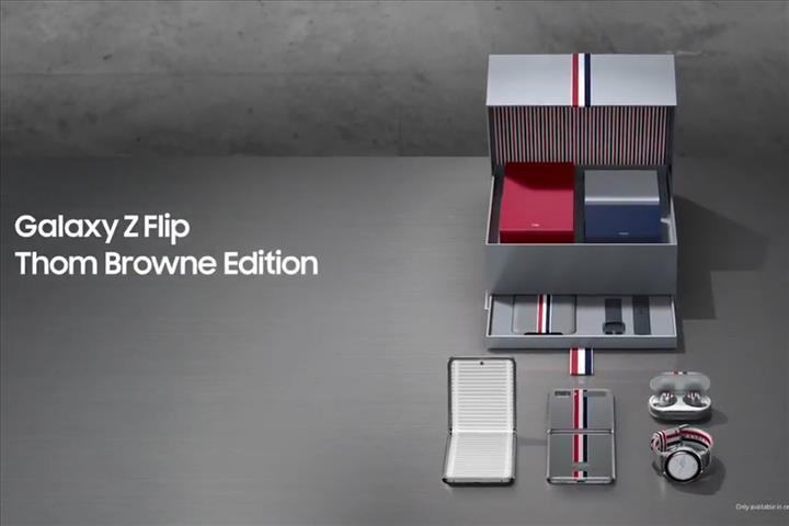 Galaxy Z Flip şimdi de Thom Browne temasına büründü